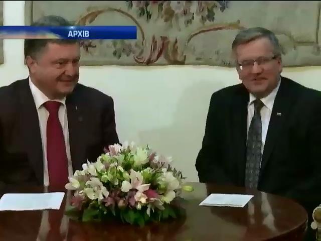 Порошенко обговорить з президентом Польщi вiйськове спiвробiтництво (видео)