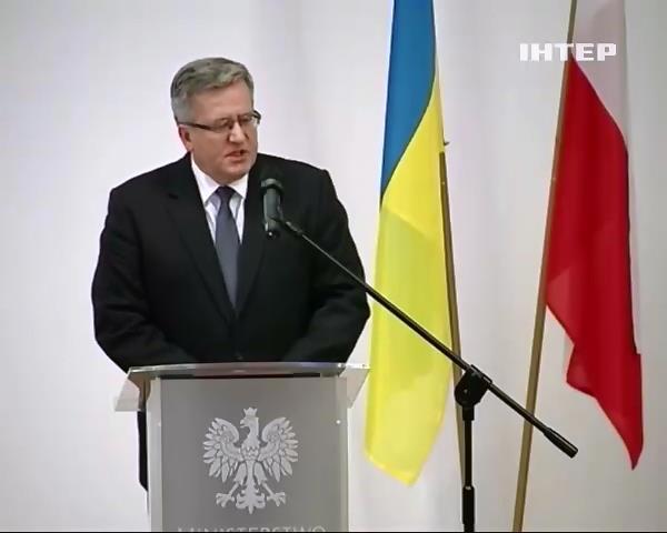 Президент Польщi згоден продавати Украiнi зброю (видео)