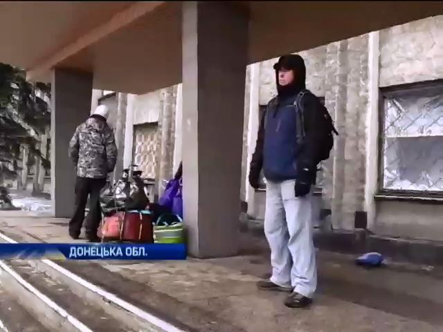 Мешканцi Дебальцево ховаються у бомбосховищах та чекають на евакуацiю (видео)