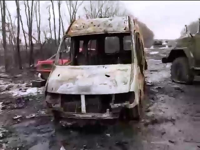 Пiхотинцi терористiв двiчi атакували Дебальцево (видео)